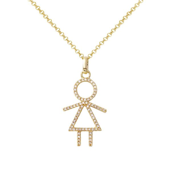 Natural 0.24 CTW Diamond Necklace 14K Yellow Gold - REF-34X2T