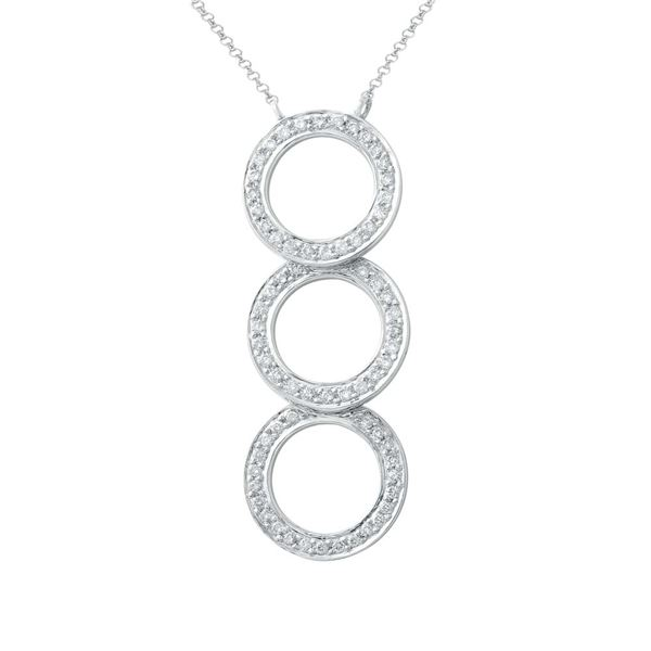 Natural 0.38 CTW Diamond Necklace 14K White Gold - REF-64R8K
