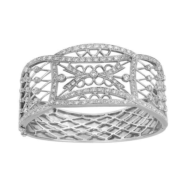 Natural 2.51 CTW Diamond & Bracelet 18K White Gold - REF-730R8K