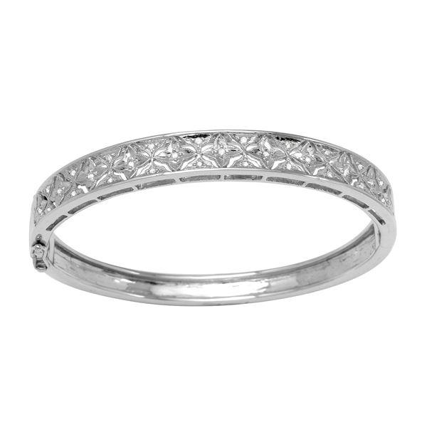 Natural 0.33 CTW Diamond Bracelet 14K White Gold - REF-181X8T
