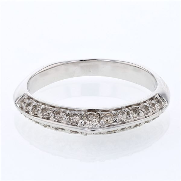 Natural 0.49 CTW Diamond Band Ring W=3MM 14K Gold - REF-45R9K