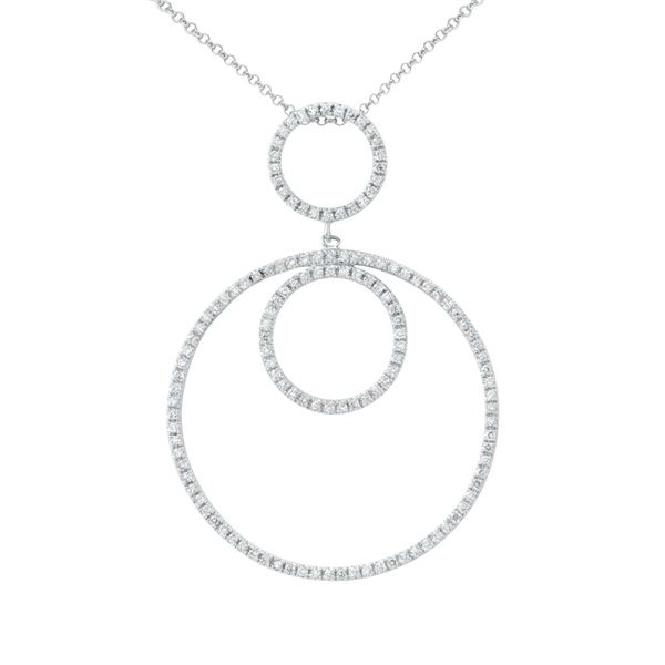 Natural 0.59 CTW Diamond Necklace 14K White Gold - REF-59R4K