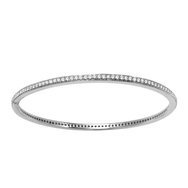 Natural 1.84 CTW Diamond Bracelet 14K White Gold - REF-266M4F