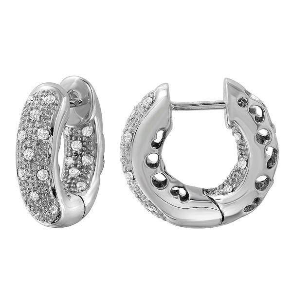 Natural 0.42 CTW Diamond Earrings 14K White Gold - REF-75R6K