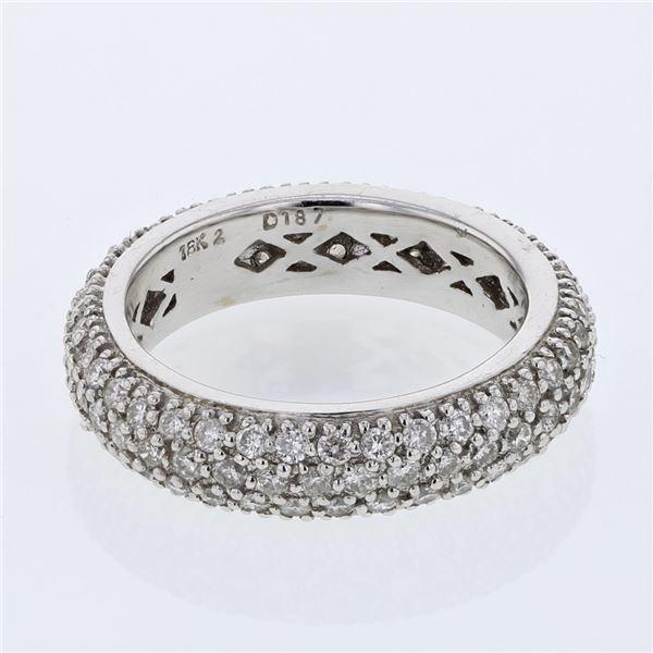Natural 1.75 CTW Diamond Ring 18K White Gold - REF-214Y2N