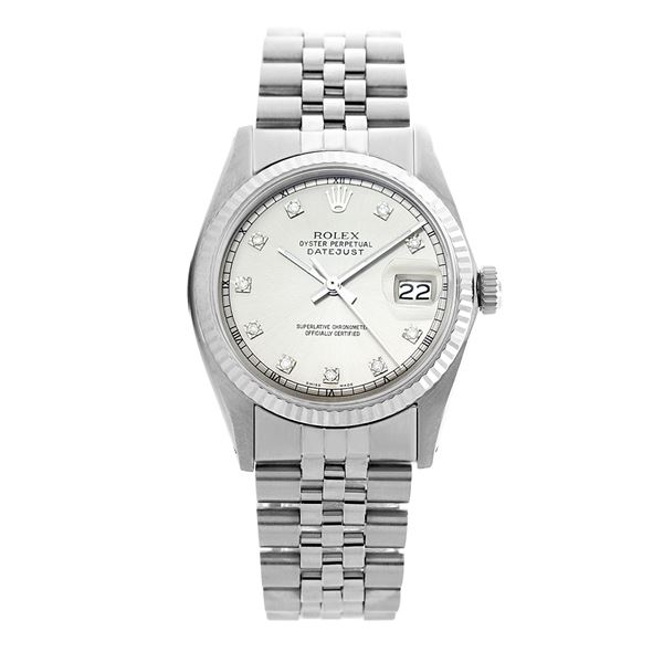 Rolex Pre-owned 36mm Mens Silver Stainless Steel