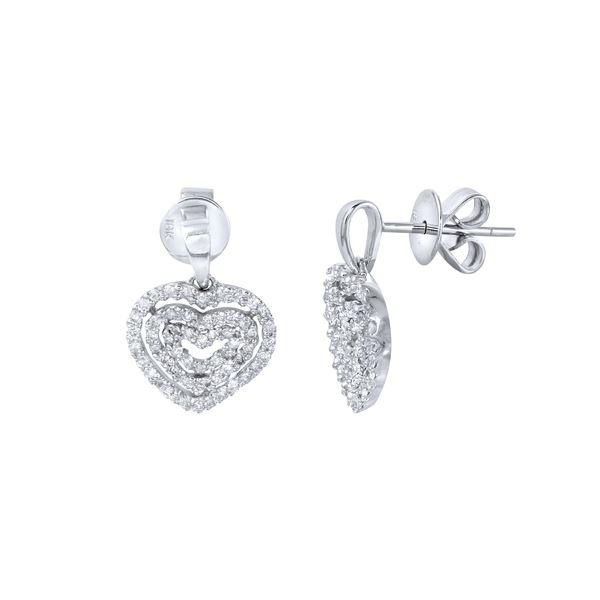 Natural 0.60 CTW Diamond Earrings 14K White Gold - REF-63H2W