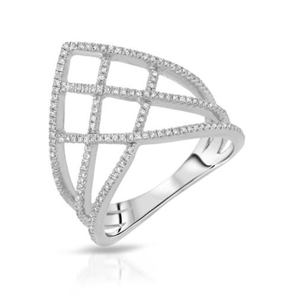 Natural 0.23 CTW Diamond Ring 14K White Gold - REF-49X5T