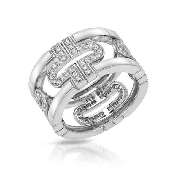Natural 0.61 CTW Diamond Engagement Ring 14K Gold - REF-98R3K