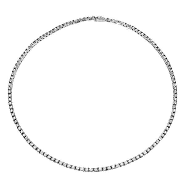 Natural 11.98 CTW Diamond Necklace 14K White Gold - REF-1162Y8N