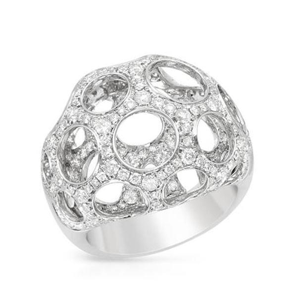 Natural 199 CTW Diamond Ring W=19MM 14K Gold - REF-252R9K
