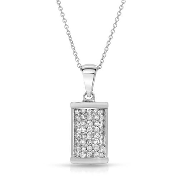 Natural 0.50 CTW Diamond & Pendant 14K White Gold - REF-50R4K