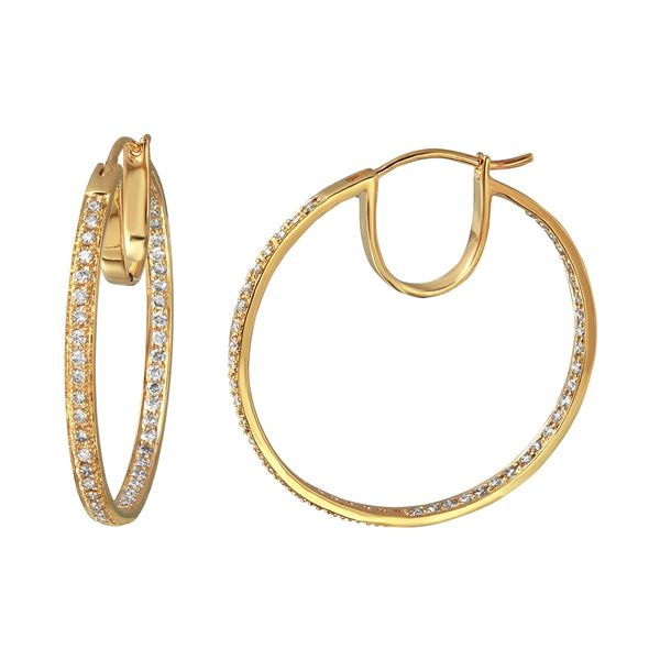 Natural 1.02 CTW Diamond Earrings 14K Yellow Gold - REF-108X2T