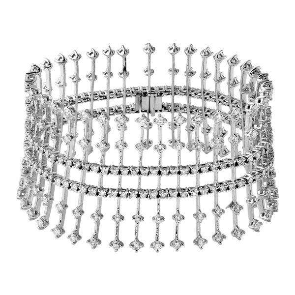 Natural 8.79 CTW Diamond Bracelet 14K White Gold - REF-799H2W