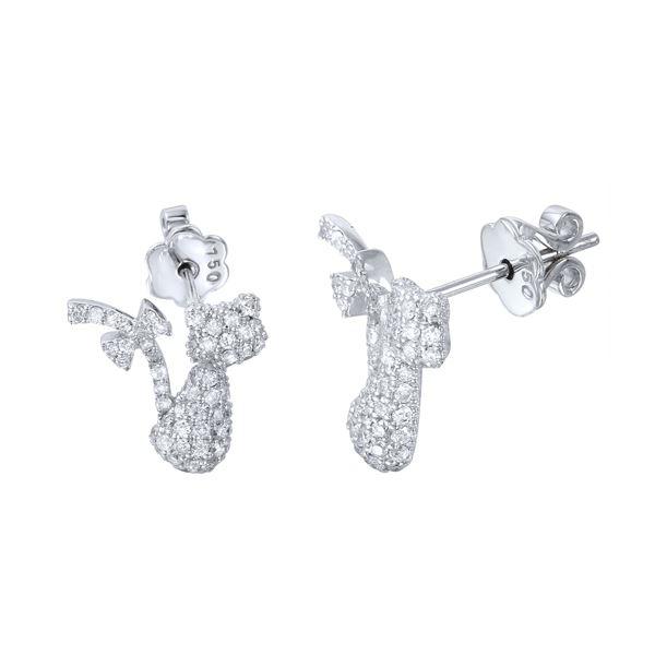 Natural 0.79 CTW Diamond Earrings 18K White Gold - REF-111H6W