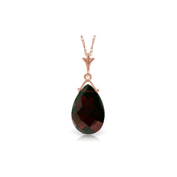 Genuine 5.1 ctw Garnet Necklace 14KT Rose Gold - REF-22Y2F