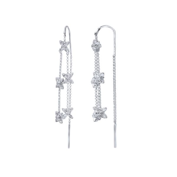 Natural 0.83 CTW Diamond Earrings 14K White Gold - REF-97Y2N