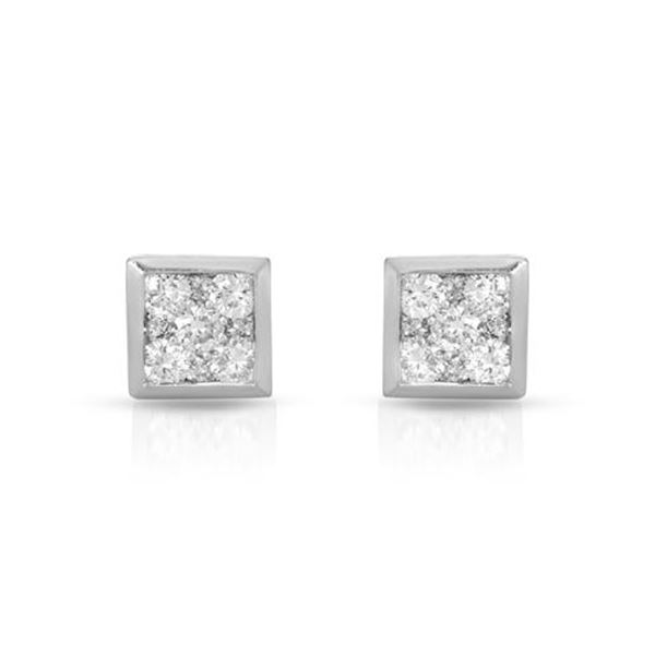 Natural 1 CTW Diamond Earrings 14K White Gold - REF-138H6W