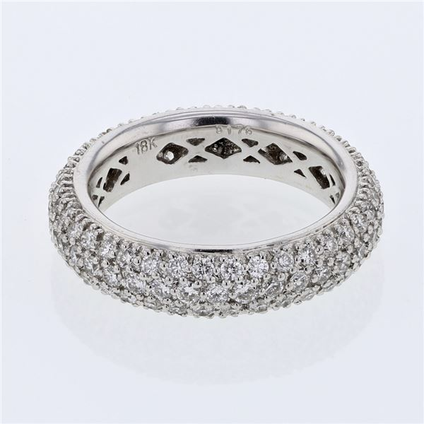 Natural 1.76 CTW Diamond Ring 18K White Gold - REF-221H4W