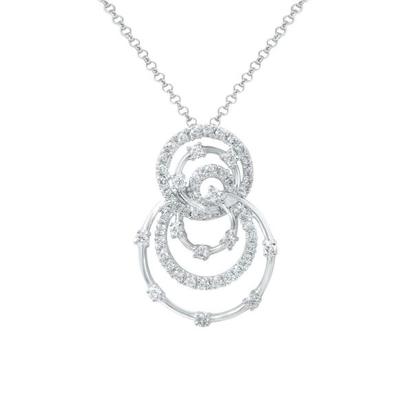 Natural 0.59 CTW Diamond Necklace 14K White Gold - REF-55R8K