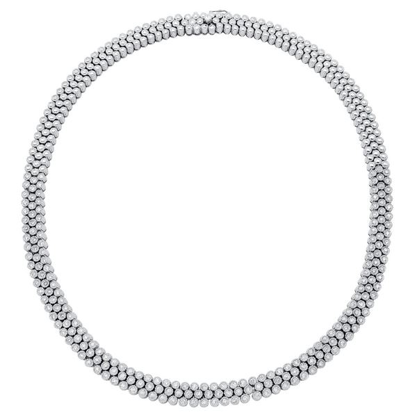 Natural 5.57 CTW Diamond Necklace 14K White Gold - REF-1011X6T