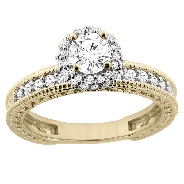 0.75 CTW Diamond Ring 14K Yellow Gold - REF-120K4W