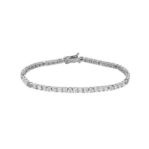 Natural 4.85 CTW Diamond & Bracelet 18K White Gold - REF-473R4K