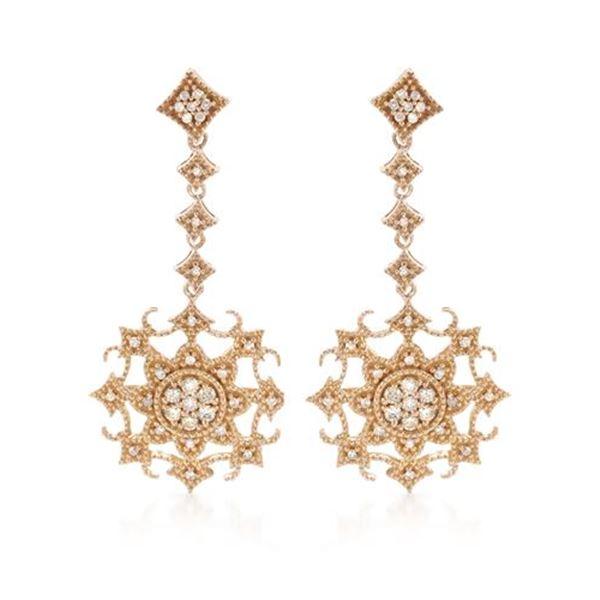 Natural 0.33 CTW Diamond Earrings 14K Rose Gold - REF-64W8H