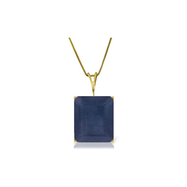 Genuine 7 ctw Sapphire Necklace 14KT Yellow Gold - REF-66A5K