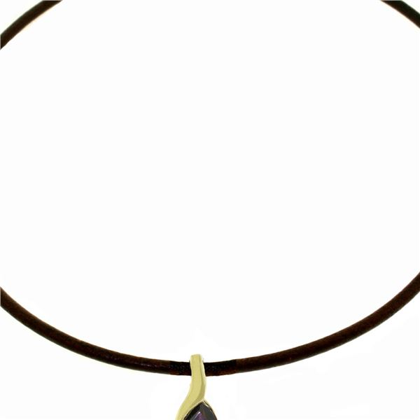 Genuine 4.7 ctw Garnet Necklace 14KT White Gold - REF-49A2K