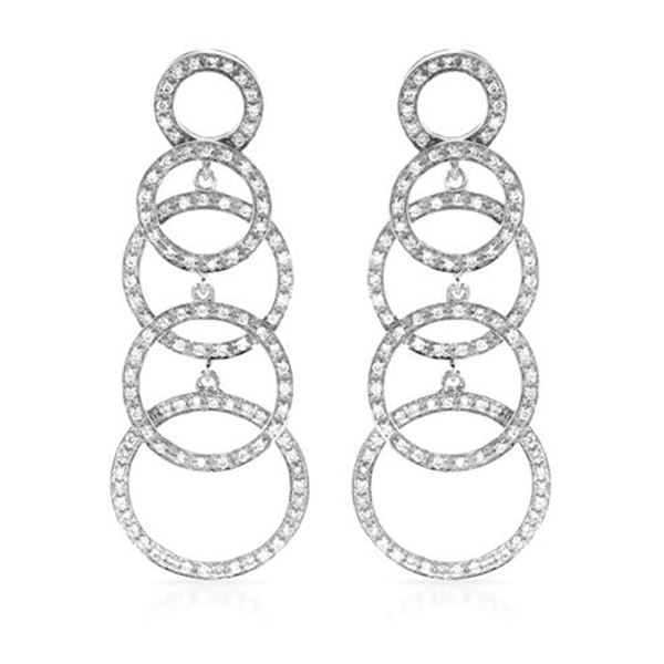 Natural 0.94 CTW Diamond Earrings 14K White Gold - REF-126K2R