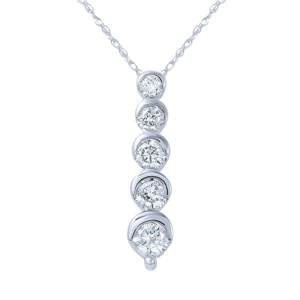 Natural 0.53 CTW Diamond Necklace 14K White Gold - REF-78K3R