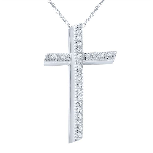 Natural 0.24 CTW Diamond Necklace 14K White Gold - REF-58N5Y