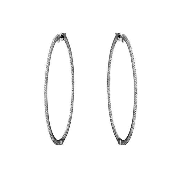 Natural 0.98 CTW Diamond Earrings 14K White Gold - REF-114W3H