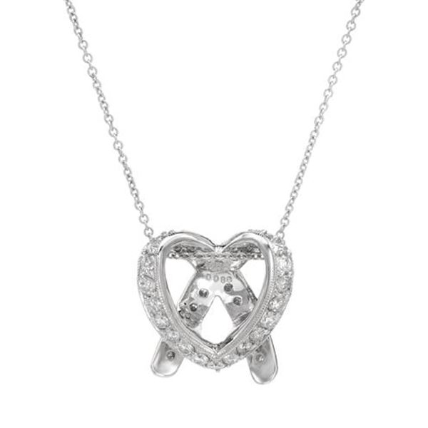 Natural 0.89 CTW Diamond Necklace 18K White Gold - REF-143N3Y