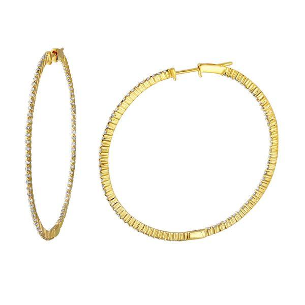 Natural 1.19 CTW Diamond Earrings 14K Yellow Gold - REF-124N2Y