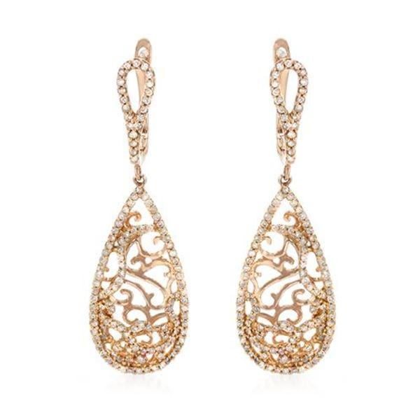 Natural 0.69 CTW Diamond Earrings 14K Rose Gold - REF-69T3X
