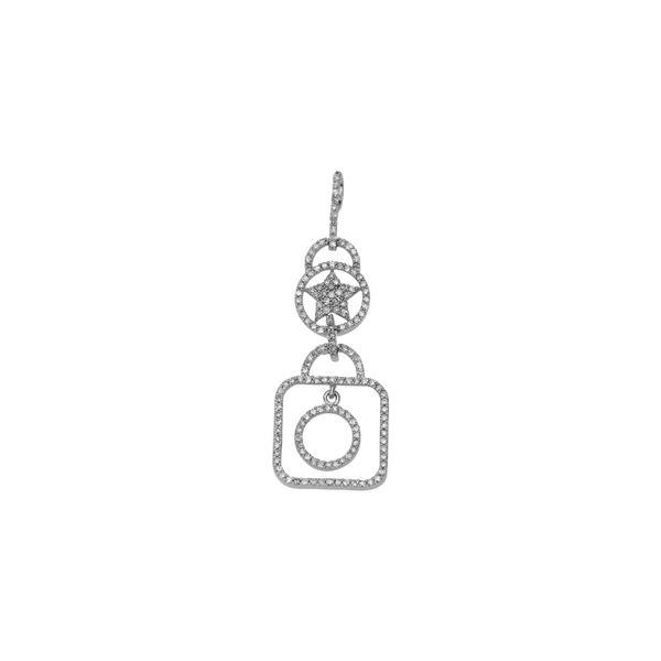 Natural 0.45 CTW Diamond Necklace 14K White Gold - REF-48T6X