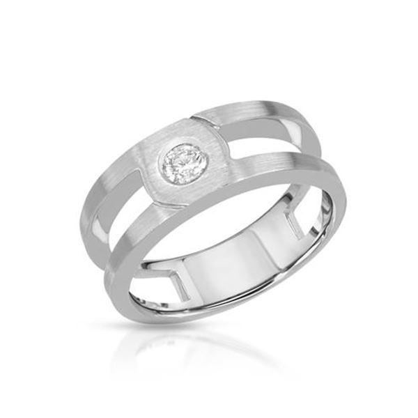 Natural 0.27 CTW Diamond Ring 14K White Gold - REF-111K6R