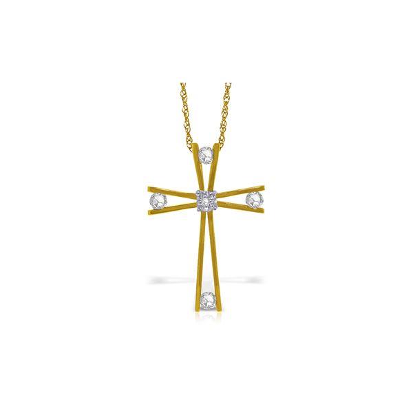 Genuine 0.45 ctw Diamond Anniversary Necklace 14KT Yellow Gold - REF-150K2V