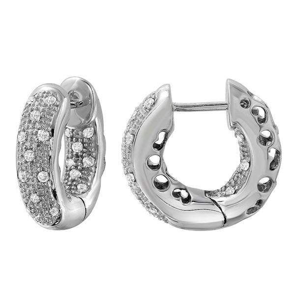 Natural 0.41 CTW Diamond Earrings 14K White Gold - REF-75W6H