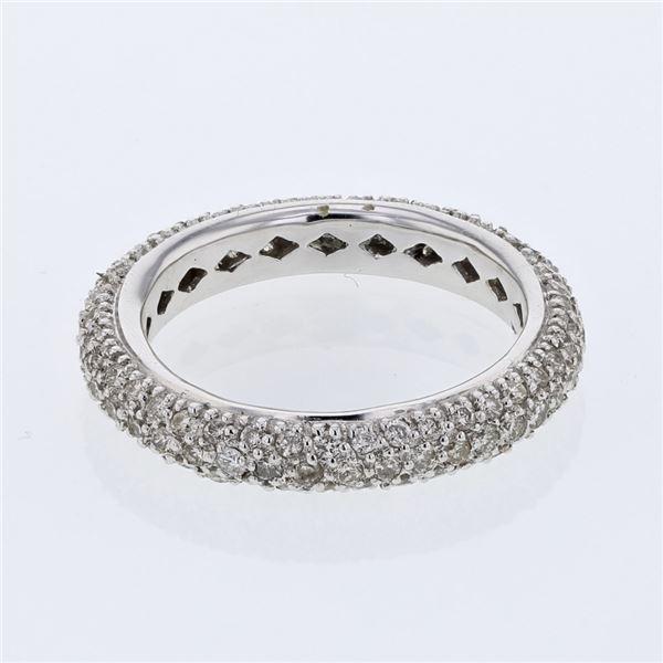 Natural 1.16 CTW Diamond Ring 14K White Gold - REF-91F8M