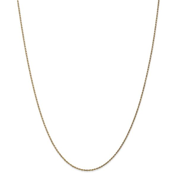 14k Gold 1.15 mm Machine-made Rope Chain Necklace - 16 in.