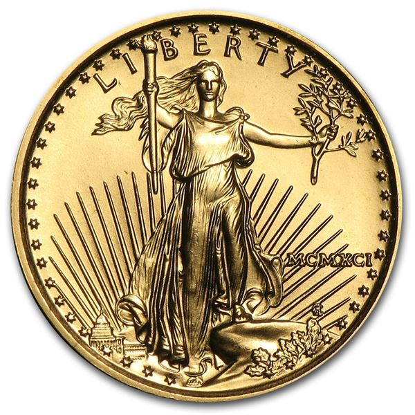 1991 1/10 oz Gold American Eagle BU (MCMXCI)
