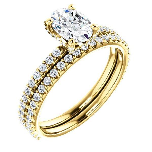 Natural 2.62 CTW Oval Cut Hidden Halo Diamond Ring 18KT Yellow Gold