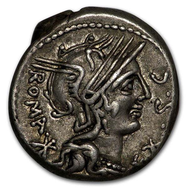 Roman Republic Silver Denarius (116-115 BC) Ch XF