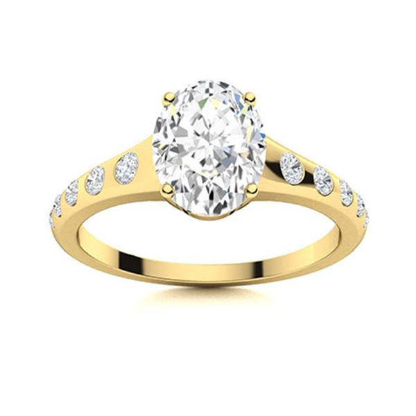 Natural 2.92 CTW Diamond Solitaire Ring 14K Yellow Gold