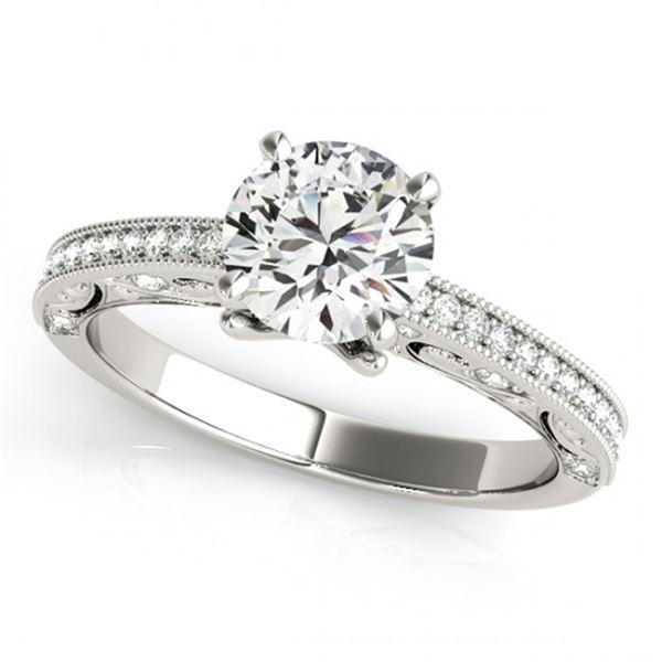 Natural 0.75 ctw Diamond Antique Ring 14k White Gold