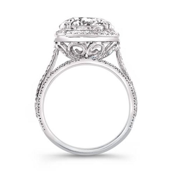 Natural 4.62 CTW Riviera Diamond Engagement Ring 18KT White Gold