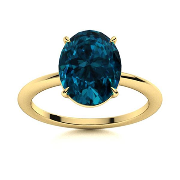 Natural 4.03 CTW Topaz Solitaire Ring 14K Yellow Gold